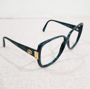 AS-IS Vintage Gucci GG Oversized Grn/Blk Frames